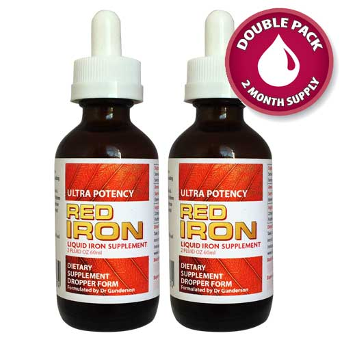 Natural Red Iron Double pack 2 x 60ml